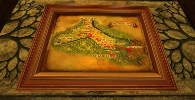 Petite carte de Bingo dans la région du Grand Fleuve