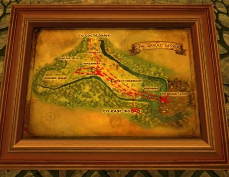Grande carte de Bingo dans la région du Grand Fleuve
