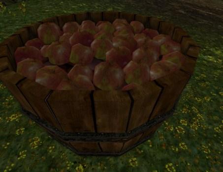 Cageot de pommes de Bingo