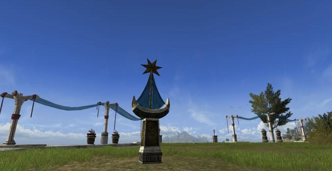 Poteau d'amarrage à bateau du Belfalas