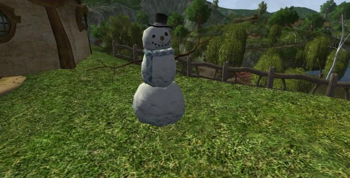 Bonhomme de neige avec un haut-de-forme