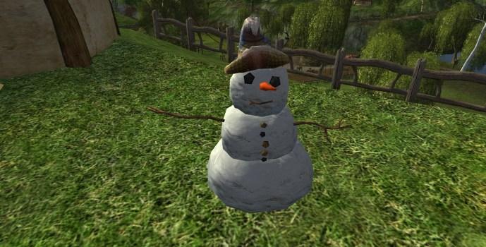 Bonhomme de neige à chapeau de sorcier