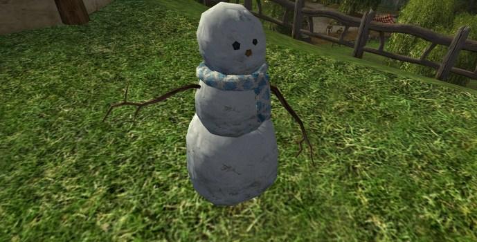Bonhomme de neige sans chapeau