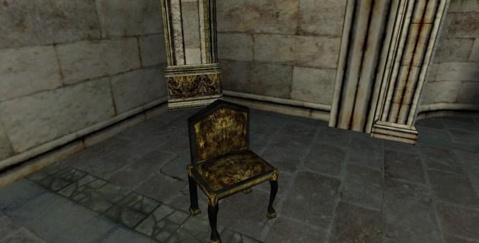 Chaise à petit dossier du Gondor