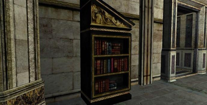 Étagère à livres du Gondor inclinée sur la droite