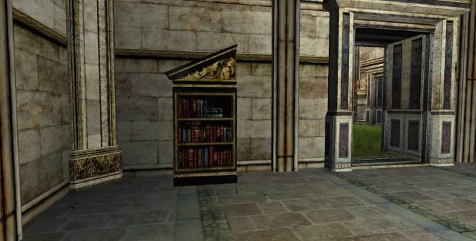 Étagère à livres du Gondor inclinée sur la gauche