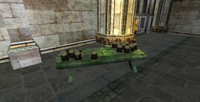 Table ornée de Trèfle