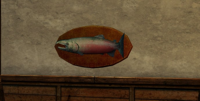 Trophée : Saumon de 7.5 kilos
