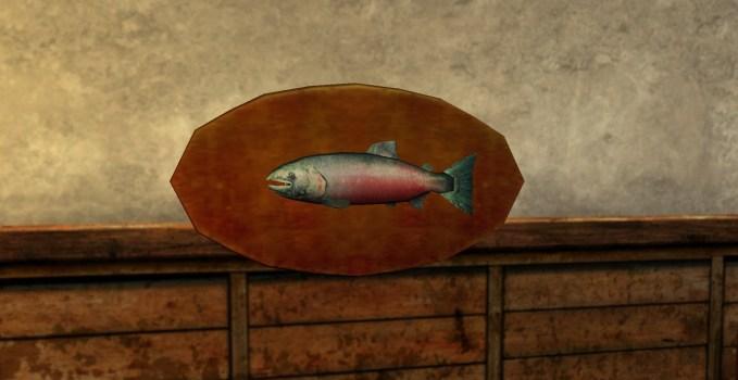 Trophée : Saumon de 2 kilos