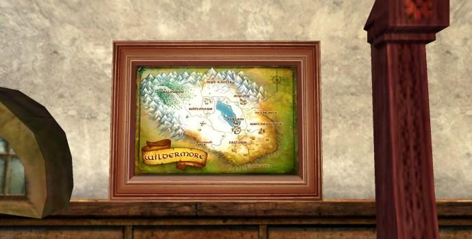 Petite carte des Landes Farouches