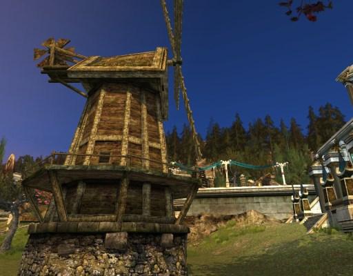 Moulin à vent vétuste des Rohirrim