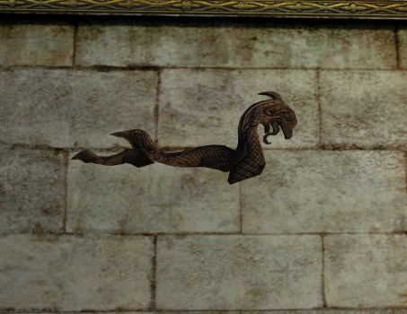 Gravure murale représentant un dragon