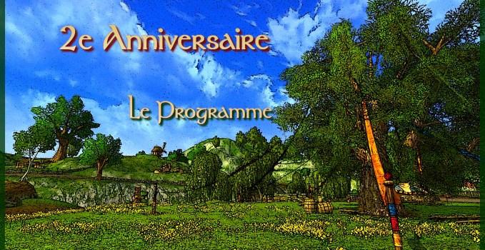 MàJ – 2e Anniversaire : Le programme !