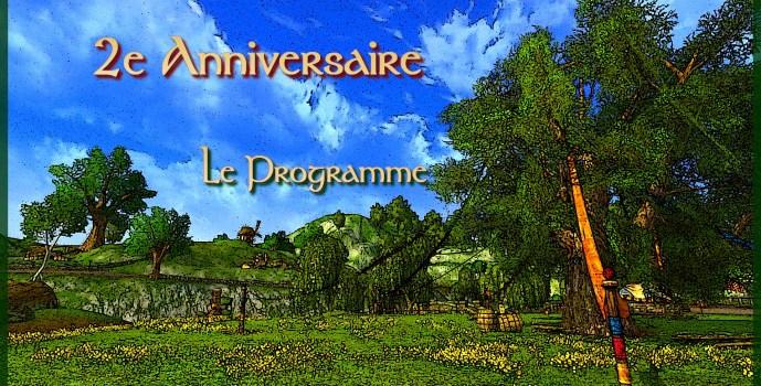 2e Anniversaire : Le programme !