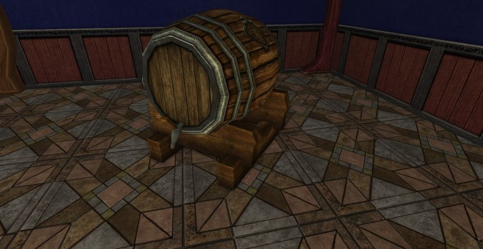 Tonnelet décoratif de la Ligue des Tavernes