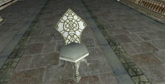 Chaise de jardin en albâtre