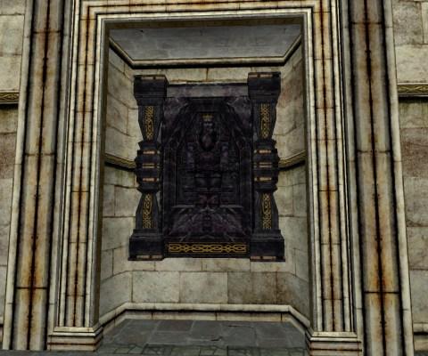 Petite Sculpture Murale en Obsidienne (Small Obsidian Wall Carving)