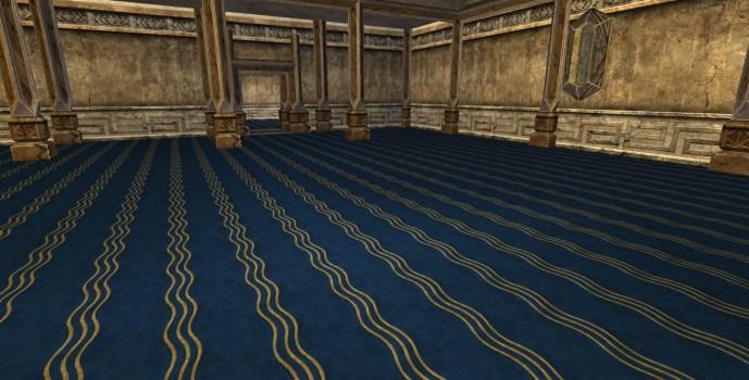 Moquette Fantaisie Bleue – Deuxième Style (Fancy Blue Carpet – Second Style)