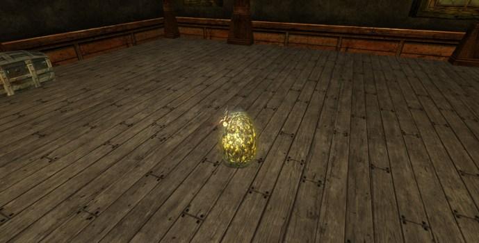 Sac d'œufs recouvert de bile