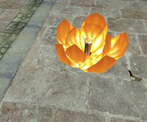 Lanterne Flottante – Semi-ouverte (Floating Lantern – Half-Open)