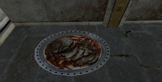 Assiette de chevreuil rôti (Platter of Roast Venison)