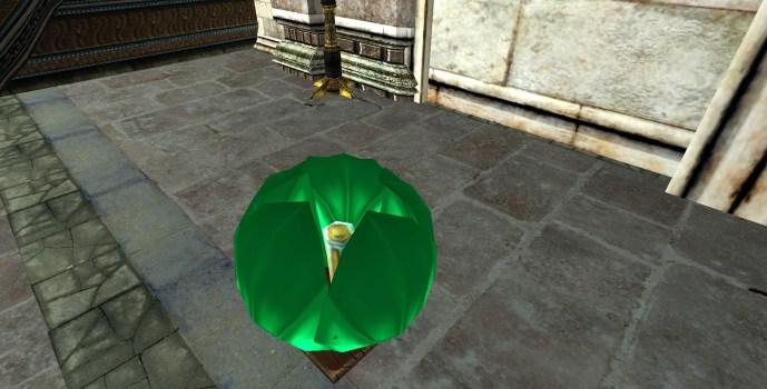Lanterne Flottante Verte – Fermée (Green Floating Lantern – Closed)
