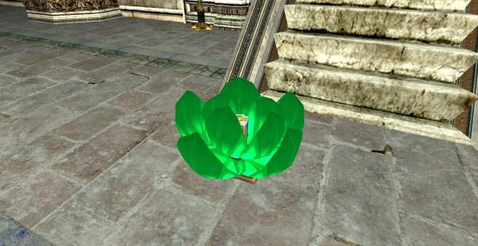 Lanterne Flottante Verte – Entrouverte