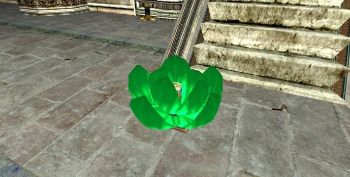 Lanterne Flottante Verte – Semi-ouverte (Green Floating Lantern – Half-Open)