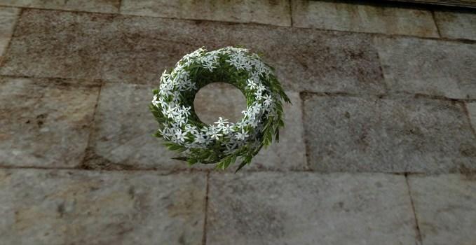 Couronne florale du Solstice d'été blanche