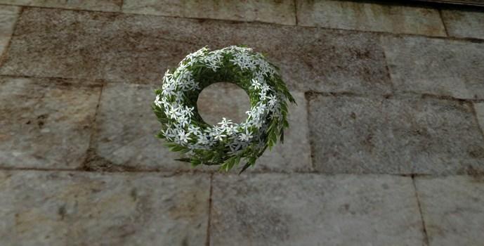 Couronne florale blanche du Solstice d'été (White Midsummer Floral Wreath)