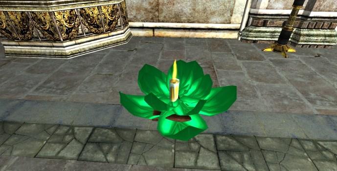 Lanterne Flottante Verte – Ouverte (Green Floating Lantern – Open)