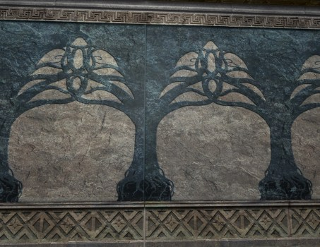 Mur de la Seconde Salle sans feuilles