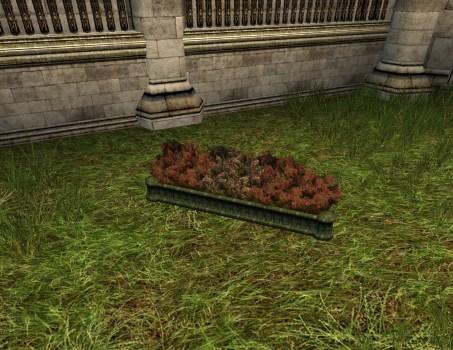 Jardinière en boîte décorée