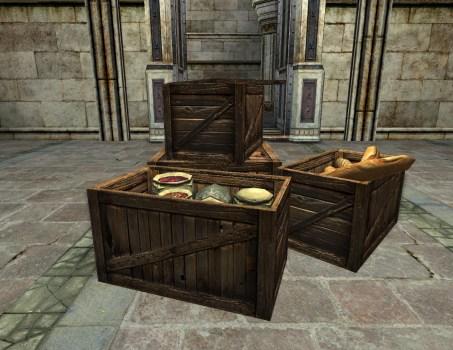 Caisses de nourriture
