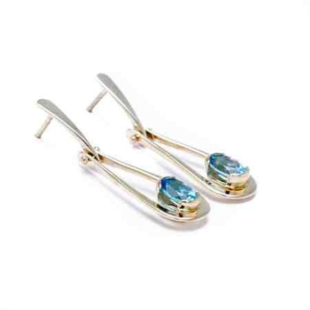 Yellow Gold Blue Topaz