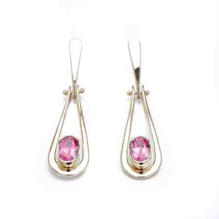 Yellow Gold Pink Tourmaline