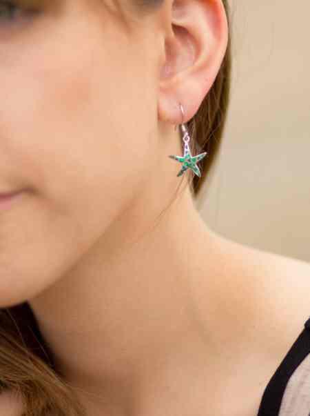 Opal Dancing Starfish Earrings 2
