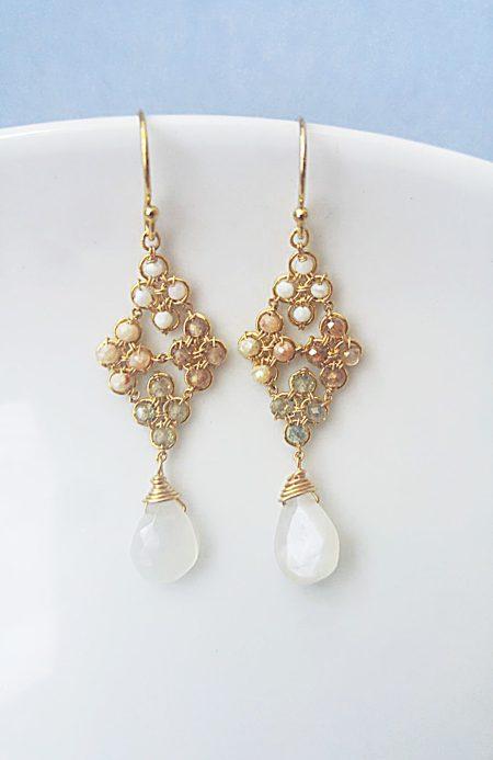 Opalescent Droplet Earrings 1