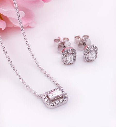 18k White gold heirloom set 4