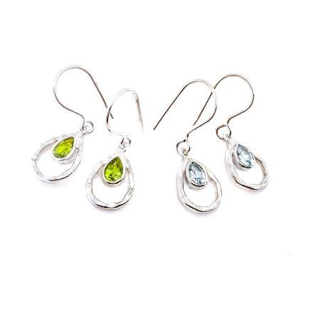 Teardrop Gemstone Earrings 1