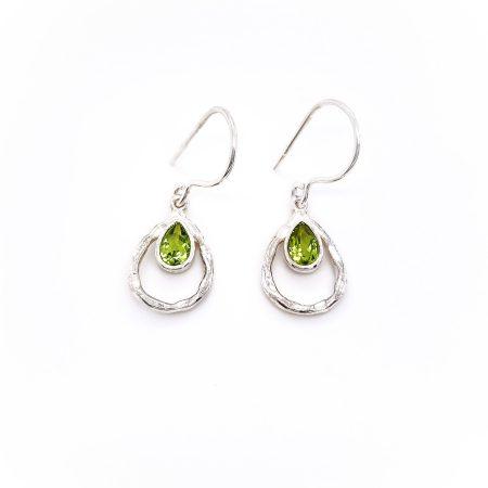 Teardrop Gemstone Earrings 2