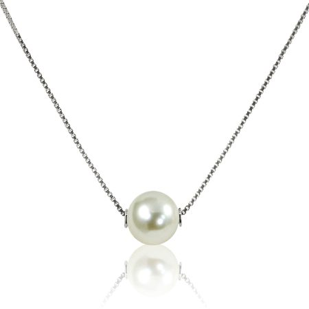Single Pearl Necklace 2