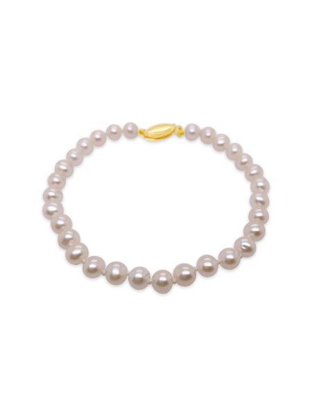 Petite White Fresh Water Pearl Bracelet 1