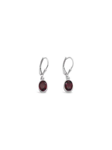 Oval Gemstone Earrings 2