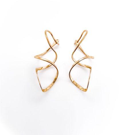 Corkscrew Hoop Earrings 2