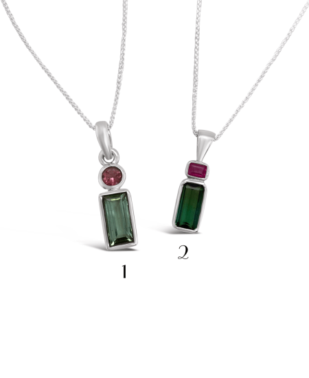 Stacked Tourmaline Necklace 1