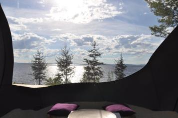 La vue de la Spair dans le Baskatong