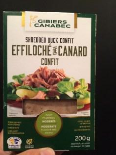 Effiloché de Canard confit, Canabec