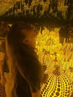 Field trip to see Yayoi Kusama's Infinity Mirrors exhibit.