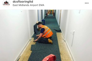 installing Heuga carpet tiles